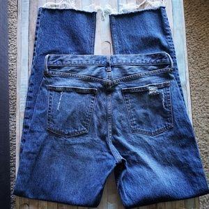 GAP Jeans - GAP Distressed High Rise Medium Wash Jeans 30 T
